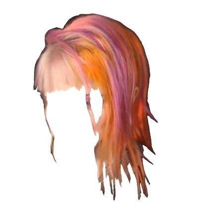 pink orange hair