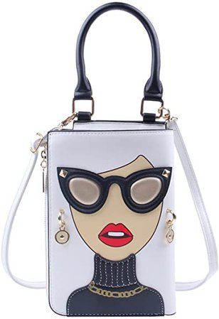 Amazon.com: Emprier Women Funky Lady Face Crossbody Shoulder Bags Novelty Personalized Top Handle Satchel Purse : Clothing, Shoes & Jewelry