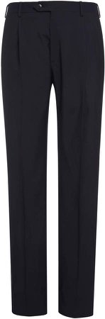 Brioni Virgin Wool Pleated Trousers