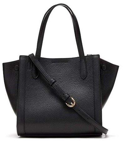 Italian Leather Mini Tailored Tote Bag