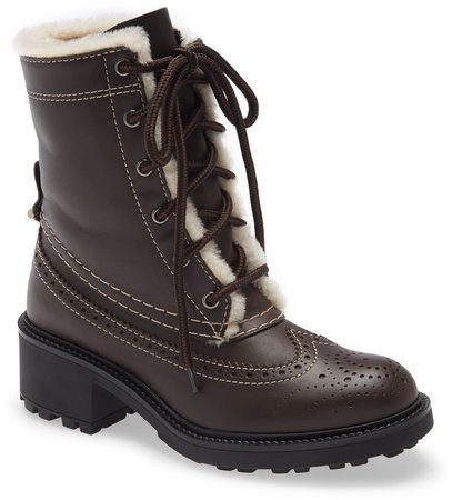 Franne Genuine Shearling Lining Lace-Up Boot