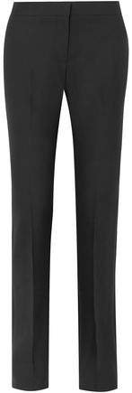 Wool-blend Twill Straight-leg Pants
