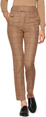 Lane Classic Plaid Trousers