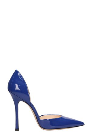Marc Ellis Blue Patent Leather Pumps