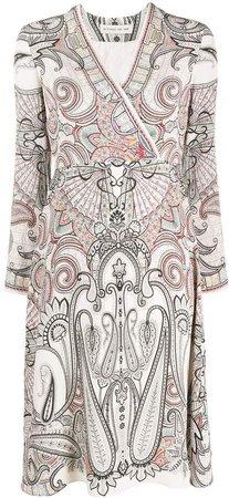 Paisley-Print Midi Dress