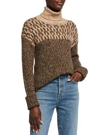 Veronica Beard Bia Turtleneck Sweater | Neiman Marcus