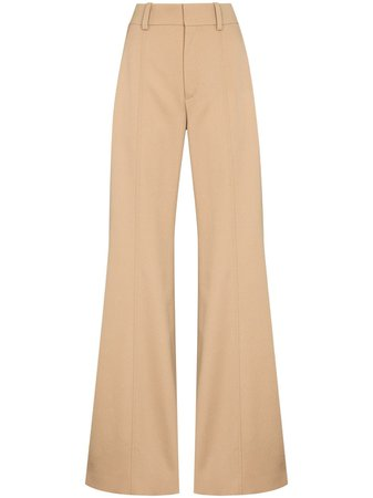 Chloé Flared high-waisted Trousers - Farfetch
