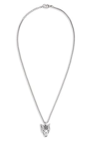 Gucci Wolf Head Sterling Silver Necklace | Nordstrom