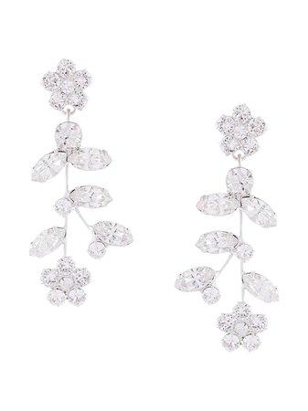Jennifer Behr Andrea Floral crystal-drop Earrings - Farfetch
