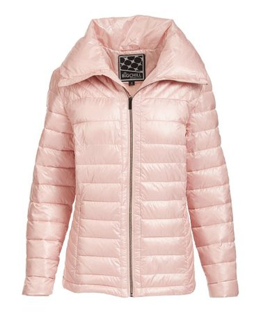 Big Chill Blush Quilted Puffer Coat - Women & Plus | zulily