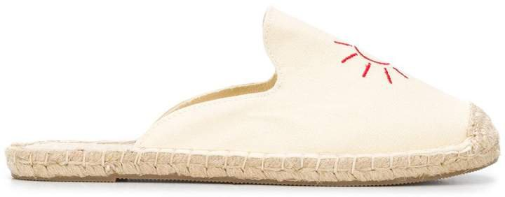Sun Embroidered Flat Espadrilles