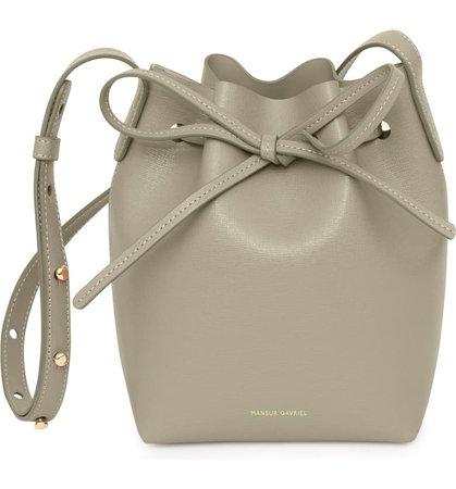 Mansur Gavriel Mini Saffiano Leather Bucket Bag   Nordstrom