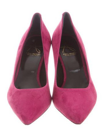 Abel Muñoz Suede Pointed-Toe Pumps w/ Tags - Shoes - W7A20425 | The RealReal