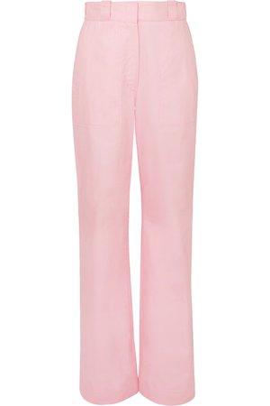Loewe | Cotton-twill straight-leg pants | NET-A-PORTER.COM
