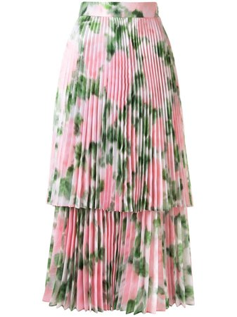 Richard Quinn Floral Print Pleated Skirt - Farfetch