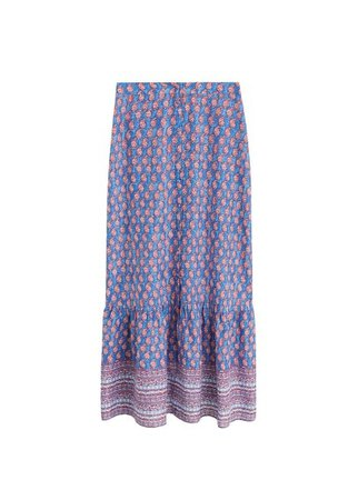 MANGO Flowy long skirt