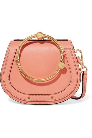 Chloé | Nile Bracelet small leather and suede shoulder bag | NET-A-PORTER.COM