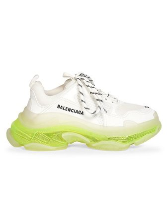Balenciaga Triple S Clear Sole Sneakers | SaksFifthAvenue