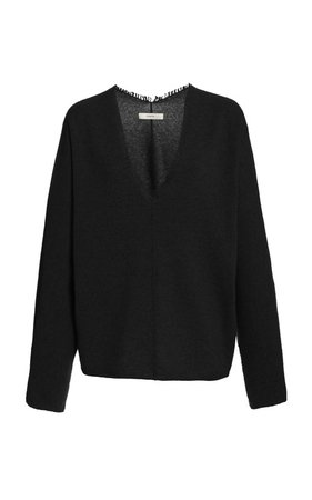 Fringe-Trimmed Cashmere Sweater by Vince | Moda Operandi