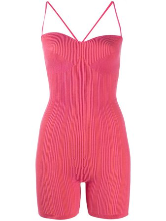Jacquemus Ribbed stretch-fit Playsuit - Farfetch