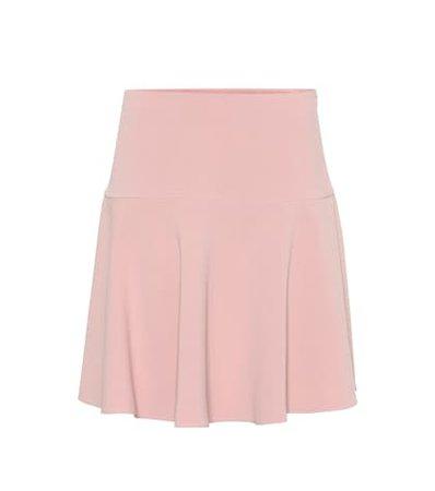 Cady crêpe miniskirt
