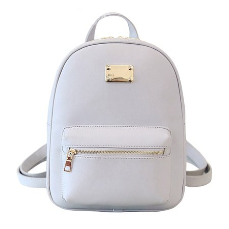 White Travel Backpack