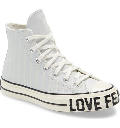 Converse Chuck Taylor® All Star® 70 Love Fearlessly High Top Leather Sneaker (Women) | Nordstrom