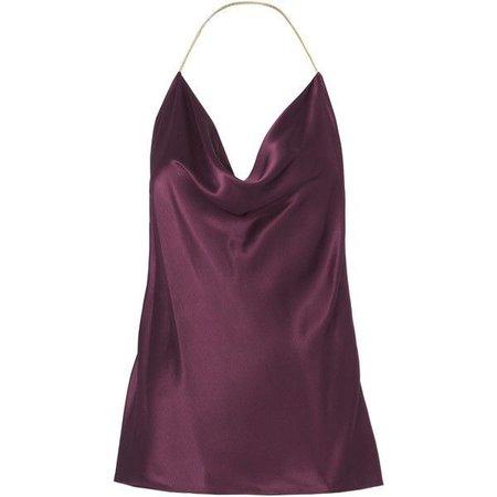 Chain Detail Silk Charmeuse Top ($595)