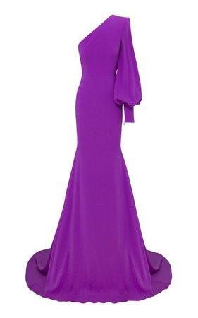 Marin Satin Crepe One-Shoulder Gown By Alex Perry   Moda Operandi