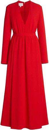Giambattista Valli Long Sleeve V-Neck Gown