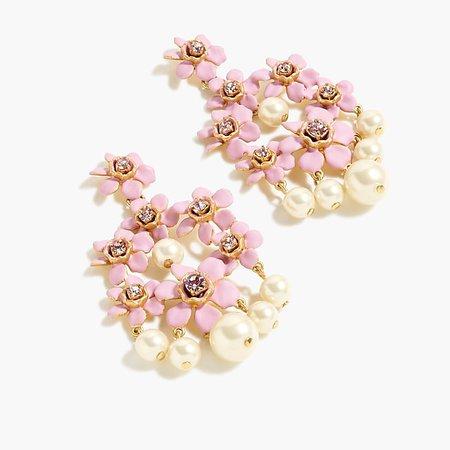 Pearl and crystal chandelier earrings - Women's Jewelry | J.Crew