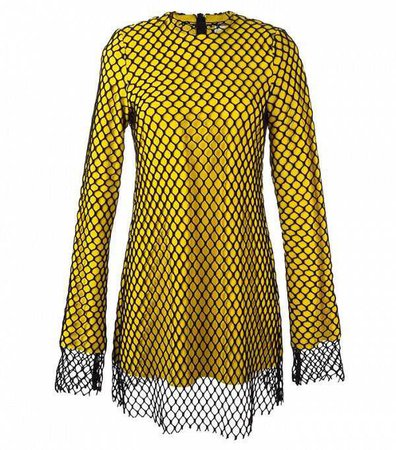 Marques'Almeida Mesh Overlay Dress