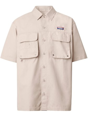 Burberry appliqué logo short-sleeve shirt - FARFETCH