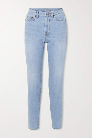 High-rise Straight-leg Jeans - Blue
