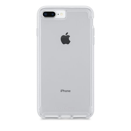 white/silver iPhone 8+ clear case