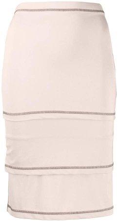 Layered Wrap Pencil Skirt