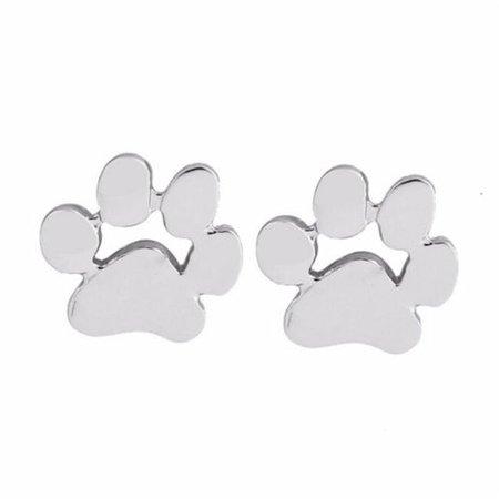 Fashion Women Dog Paw Print Stud Earrings Gold Silver Plated Earrings Jewelry PR | eBay