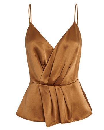 L'Agence Chiara Silk Wrap Top | INTERMIX®