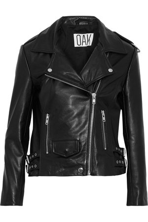 Black NY Rider leather biker jacket | Sale up to 70% off | THE OUTNET | OAK | THE OUTNET