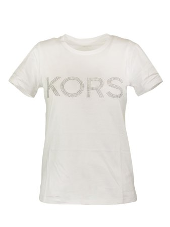 Michael Kors Studded Logo Cotton-jersey T-shirt