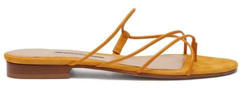 Emme Parsons - Chris Leather And Suede Sandals - Womens - Yellow