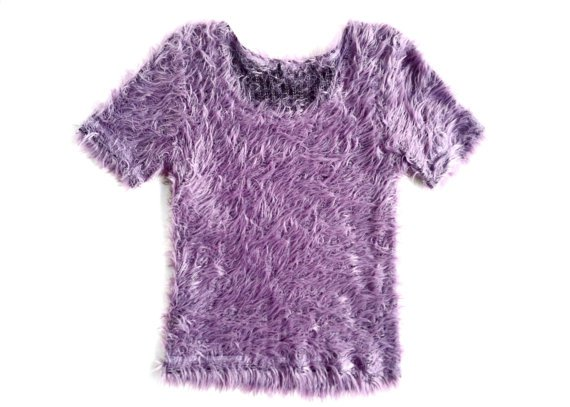 90's Lavender Fuzzy Fur Top
