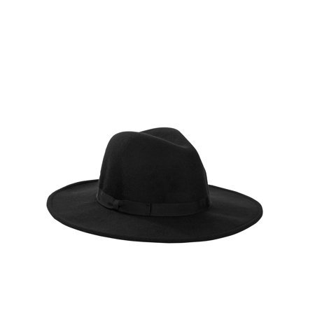 Scoop - Scoop Ultimate Wide Brim Velour Fedora Women's - Walmart.com black