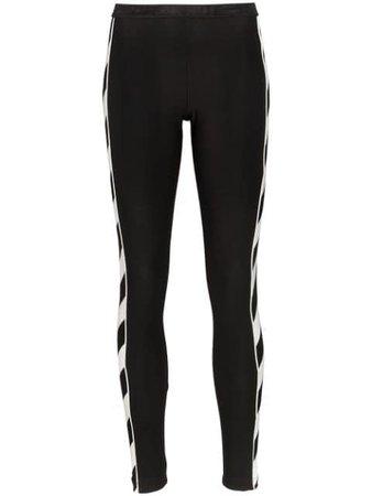 Black Off-White Diagonal Stripe Print Leggings | Farfetch.com