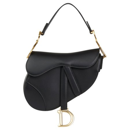 Saddle leather mini bag Dior Black in Leather - 6336232