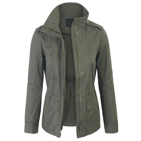 KOGMO - Womens Zip Up Military Anorak Safari Jacket Coat - Walmart.com - Walmart.com