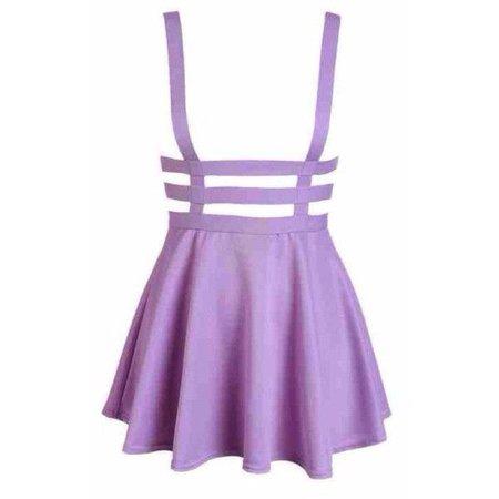 Pastel Goth Suspender Skirt