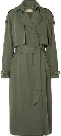 Lyocell Trench Coat - Army green