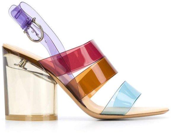 PVC strappy sandals