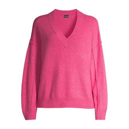 Scoop - Scoop Women's V-Neck Sweater - Walmart.com - Walmart.com